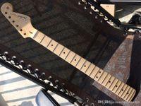 Wholesale fast guitars resale online - Fast shipping new stratocaster electric guitar st neck Fret maple fingerplate varnish after the belt guitar neck