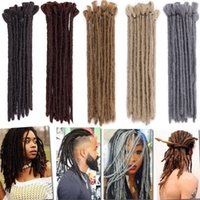 Wholesale braiding short black hair resale online - Inch Halloween Short Dreads Color Avaliable Black Fashion Dreads Reggae Crochet Synthetic Braiding Hair For Man