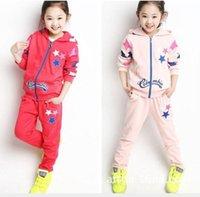 terno animal coreano venda por atacado-Versão coreana do terno de Star Style infantil para Girls'Leisure de duas peças W613