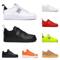 volt ayakkabıları toptan satış-nike air force 1 af1 just do it Sıcak erkekler kadınlar moda platformu sneakers programı siyah beyaz üçlü volt kırmızı zeytin bir gün var Keten erkek rahat kaykay ayakkabı