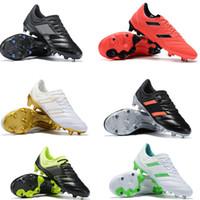 zapatos de fútbol para niños al aire libre al por mayor-Botas de fútbol de exhibición CPOA 19.1 FG con cordones Niños Jóvenes Niños Tacos de fútbol Junior Zapatos de fútbol para exteriores Cuero genuino