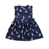 ingrosso principessa cartoon delle ragazze coreane-Fairyshm Cartoon Deer Sleeveless Tank Dress Girls New Summer Dress Vestito da principessa coreano MY0114
