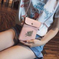 ingrosso tipi borse per ragazze-Borsa delle donne per il telefono 2019 Borsa delle donne della moneta di modo Borsa a tracolla trasparente a tracolla per le ragazze Cute Phone tipo Mobile Pouch 324