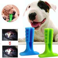 köpekler için diş temizleme toptan satış-Köpek Diş Fırçası Oyuncak Fırçalama Sopa Pet Molar Diş Fırçası Köpek Yavrusu Diş Sağlık Diş Temizleme için Chew Oyuncak Fırça