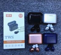 Wholesale motorola smartphones for sale - Group buy 10pcs DT TWS DT4 Wireless Bluetooth Earphone Mobile Stereo Earbud Sport in Ear headset For smartPhones