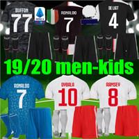 Wholesale ronaldo jersey youth for sale - Group buy men kids JUVENTUS RONALDO Soccer Jersey JUVE DE LIGT DYBALA HIGUAIN BUFFON adult youth boys Football kits Shirt