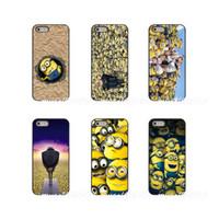 casos iphone minion iphone venda por atacado-Desprezível me gru minions exército hard phone case capa para apple iphone x xs xs max 4 4s 5 5s 5c se 6 6 s 7 8 além de ipod touch 4 5 6