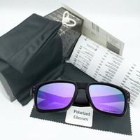 polarize tasarımcı marka güneş gözlüğü toptan satış-2019 Marka Polarize Güneş Gözlüğü Box ve Aksesuarları ile Erkekler Kadınlar Sport Tasarım Gözlükler Binme Güneş Gözlük Dazzle Renk Güneş