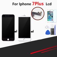 iphone glasschirm ersatz großhandel-LCD für iphone 7 Plus-Display Touch-Screen-Analog-Digital wandler Wiedereinbau für iphone 7 7 Plus-LCD-Bildschirm pantalla + gehärtetes Glas