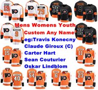 Wholesale flyers jersey claude giroux for sale - Group buy Philadelphia Flyers Jerseys Claude Giroux Jersey Travis Konecny Carter Hart Couturier Lindblom Ice Hockey Jerseys Womens Customize Stitched