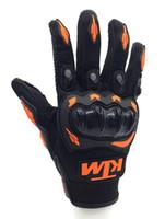 guantes de moto armadura al por mayor-Envío libre venta caliente KTM motocicleta guante dedo completo Motocross armadura Guantes