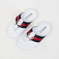weiße sandalen für kinder großhandel-baby boot pantoffel kinder flip flop tanga pantoffel sandalen schwarz weiß mode pantoffel für mädchen eu21-35