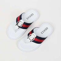 ingrosso sandali bianchi delle neonate-pantofola per bambino infradito per bambini infradito sandalo infradito nero bianco moda pantofola per bambina Eu21-35
