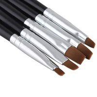 ingrosso set di bellezza-5pcs / set nuovo salone di bellezza del chiodo di arte acrilico gel UV salone penna pennello piatto strumento punteggiatura per le decorazioni