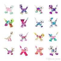 bunny tasarımları toptan satış-Bükülen Petz Tahsil Bilezik Set 6-Designs Yavru Bunny Unicorn Kitty Köpek Aslan Bilezik Yapmak veya Çocuklar için bir Pet içine büküm oyuncak