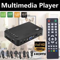 ingrosso casella di gioco mp3-Supporto multimediale per lettore multimediale Full HD 1080P di Autoplay all'ingrosso HDMI AV VGA MP3 MP4 Player MKV Mini HDD Media pubblicità Player Video Play Box