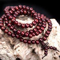 mala perlen halsketten großhandel-Heißer Sandelholz Buddhist Buddha 6mm 108 Gebetskette Mala Knoten Elastisches Armband Für Frauen Männer Halskette