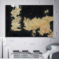 Wholesale hd landscape painting images resale online - Map Is A location In Game of Thrones Canvas Painting HD Wall Picture Poster And Print Decorative posters image Home Decor