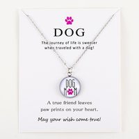 Wholesale animal rescue for sale - Group buy Live Life Love Rescue Dog Paw Animal Silver Pendants Chain Necklaces Women Men Unisex Trendy Fashion Jewelry Christmas Gift
