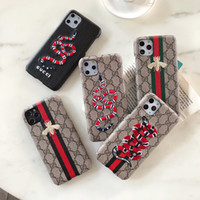 Wholesale Brand Style Phone Case for Iphone pro max X Xs Xr Max s plus creative Back Cover with Embroidery Snake Bee A03