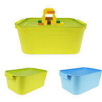 Wholesale large plastic building blocks resale online - AUGKUN PC Children Storage Bucket Box For Building Blocks Plastic Box For Containing Small Items Small Size With Large