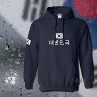 corea suda al por mayor-Corea del Sur sudaderas con capucha de los hombres camiseta de sudor nuevos socceres streetwear jerseyes futbolista chándal estado del pabellón de Corea del paño grueso y suave KR