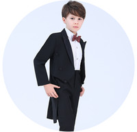 Wholesale jacket double breasted kids resale online - Handsome Double Breasted Peak Lapel Kid Complete Designer Handsome Boy Wedding Suit Boys Attire Custom made Jacket Pants Tie A57
