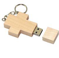 128gb unidades flash al por mayor al por mayor-Cruz de madera 32GB 64GB 128GB 256GB Madera Flash Drive Pen Drive USB 2.0 Memory Stick u disco usb regalo creativo / venta al por mayor