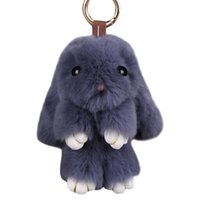Wholesale trinket toys resale online - New Fluffy Toys Keychain Fur Keychain Trinket For Women Hand Bag Phone Pendant Car Charms Keyrings Holder Jewelry