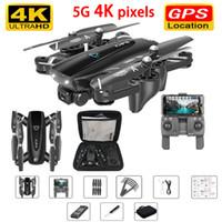 mouche vidéo achat en gros de-GPS Drone avec 4k caméra 5G RC Helicopter Quadcopter Drones HD 4K WIFI FPV Pliable Off-Point Flying Photos Vidéo Dron Hélicoptère Jouet