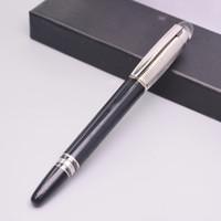 bolígrafo para la venta al por mayor-Venta caliente Classic Cross Circle Design Negro Metal Roller Ball Pen Oficina Material escolar Papelería mb Marca Rollerball Bolígrafos Para Escribir