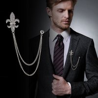 çapa broş toptan satış-Avrupa ve Amerikan retro gemi çapa matkap Broş erkekler ve kadın klasik elbise zinciri BROOCH BADGE