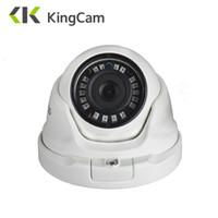сетевая камера наружный купол оптовых-KingCam 2.8mm Lens Wide Angle Metal POE IP Camera 1080P 960P 720P Security Outdoor ONVIF Network CCTV Surveillance Dome ipcam