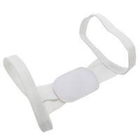 ceinture épaule femmes achat en gros de-Polyester blanc réglable Correcteur de posture Retour Brace Belt Soins de santé Soutien au dos pour les étudiantes Soutien aux épaules