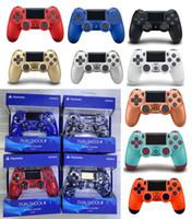 yeni oyun sistemleri toptan satış-Yeni ambalaj 14 renkler Sony PlayStation 4 Için PS4 Kablosuz Denetleyicisi Oyun Sistemi Oyun Kontrolörleri Oyunları Joystick