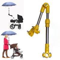 sonnenschirme für kinderwagen großhandel-Regenschirmständer Einstellbare Kinderwagen Unterstützung Struktur Baby Auto Halter Kunststoff Kinderwagen Kinderwagen Regenschirm Bar Stretch Stand Home WX9-1152