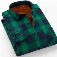 camisas de algodón ajustadas para hombre de corea al por mayor-Camisa a cuadros de algodón para hombre de manga larga camisas para hombre coreanas Casual Slim Fit de alta calidad de franela primavera camisas moda ropa hombres