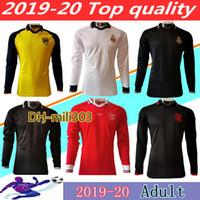 pólo de mangas compridas venda por atacado-Tailândia 19 20 Real Madrid jerseys polo longo da luva Camisa 2020 United Pogba MARCIAL Rashford futebol camisa 2019 Flamengo DIEGO Polo