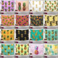 ev dekor ananas toptan satış-Ananas Serisi Duvar Halıları Dijital Baskılı Ananas Masa Örtüsü Plaj Havlusu Banyo Havlusu Açık Pedleri Ananas Ev Duvar Dekor