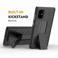 Wholesale hard clip holster for sale – best For Iphone Mini Pro Max For Samsung S20 Ultra Woven Case With Clip Belt Holster Hard PC TPU Shockproof Carbon Fiber Hybrid Weave Cover
