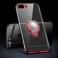 Wholesale phone case mount for sale - Group buy Slim Fit Ultra Thin Cover with Grip Ring Holder Stand and Magnetic Back for Car Mount Protective Phone Case for iPhone Xs X