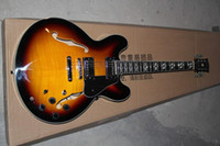 Wholesale best semi hollow electric guitar resale online - High Quality Classic Semi Hollow Jazz Guitar Electric Guitar Musical instruments Best Selling