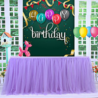 düğün dekorasyonları masa örtüleri toptan satış-Tül Masa Etek Masa Örtüsü için Parti Düğün Ev Dekorasyon DIY Sofra Etek Tutu Düğün Doğum Günü Partisi Ev Tekstili