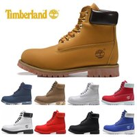 Wholesale new winter boots for boy resale online - New Arrival designer luxury boots for mens winter boots top quality womens Boot Military Triple White Black Camo size