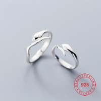 Wholesale bridal jewellery china for sale - Group buy Trending Animal Jewelry Adjustable Sterling Silver Handmade Snake Ring For Women Bridal Jewellery Best Friend Serpent Rings