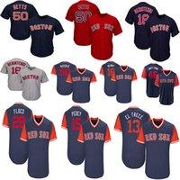 beyzbol formaları kırmızı toptan satış-Erkekler Boston Mookie Bahisleri Andrew Benintendi Hanley Ramirez El Trecé Dustin Pedroia Pedey Oyuncuları Hafta Sonu Red Sox Beyzbol Forması
