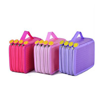 old pencils 2021 - Large Capacity Portable Oxford Pen Bags 72 Hole Student Four-layer Pencil Bag Stationery