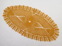häkelarbeit tischdecken großhandel-1PCS Oval Gold häkeln Deckchen (43x21cm oder 16.92