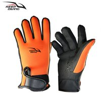 traje de buceo hombre al por mayor-Keep Diving Brand Winter Warm 2 mm Neopreno Diving Gloves Suit hombres mujeres Wet Scuba Snorkeling Gloves equipos