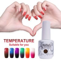 Wholesale nail polishes change color resale online - Gelish Temperature Gel Nail Art Soak Off UV LED Gel Nail Polish Color Changing Gel ml